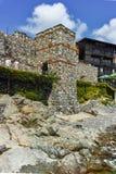 SOZOPOL, ΒΟΥΛΓΑΡΙΑ - 16 ΙΟΥΛΊΟΥ 2016: Αρχαίες καταστροφές στην παλαιά πόλη Sozopol, περιοχή Burgas Στοκ Εικόνες