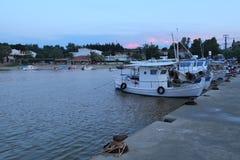 sozopol рыболовства стыковки Болгарии шлюпок стоковые изображения rf