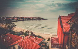 Sozopol beach resorts Stock Photography