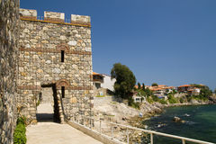 City wall of Sozopol, Bulgaria Royalty Free Stock Photography