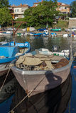 SOZOPOL, BULGARIA - JULY 12, 2016: Amazing Panorama of port of town of Sozopol, Bulgaria Royalty Free Stock Photo