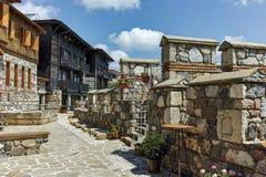 SOZOPOL, BULGARIEN - 16. JULI 2016: Alte Ruinen in der alten Stadt von Sozopol, Burgas-Region Stockfotos