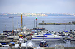 Sozopol marina widok Zdjęcie Stock