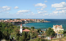 Sozopol Old And New Town In Summer Stock Photos