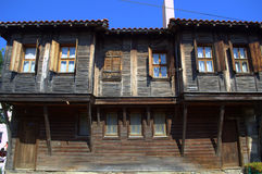 Sozopol old town wooden house Royalty Free Stock Photos