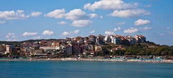 Sozopol Skyline. Beach and town of Sozopol, Bulgaria Stock Photography