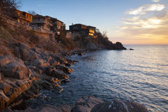 Sozopol sunrise Stock Photos