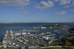 Sozopol yacht harbor in Bulgaria Royalty Free Stock Image