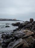 Sozopol zimy Seaview Vertical Zdjęcie Royalty Free