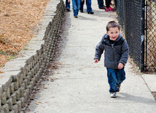 spännande pojke little Royaltyfri Fotografi