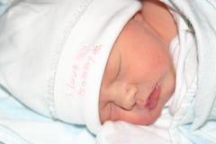 spädbarn som lägger att sova Fotografering för Bildbyråer