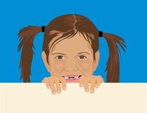 Spähen des Mädchens Lizenzfreie Stockbilder