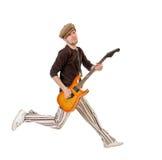 spännande gitarrist royaltyfri bild