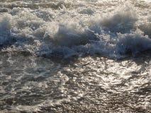 spännande hav, vågor arkivfoton