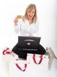 Spännande hem- shopping Fotografering för Bildbyråer