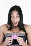 Spännande kvinna med den små asken Royaltyfria Bilder