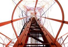 spänning för pylon för hög ström för elektricitet Arkivfoto