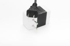 spänning för ström för adapterpropp royaltyfria bilder