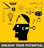 spänning låser ditt upp stock illustrationer