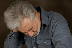 Spännings- eller bekymmerhuvudvärk Fotografering för Bildbyråer