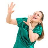 spänningscaucasiankvinna Arkivfoton