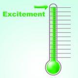 Spänningtermometern betyder celsius spänning och celsiust stock illustrationer