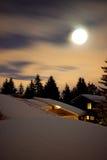 Später Abend-Mond Lizenzfreie Stockbilder