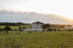 Später Evning-Sonnenuntergang-Effekt stockfotos