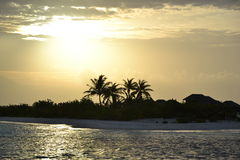 Später Nachmittag in den Malediven Stockfotos