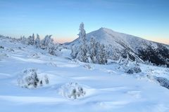 Später Nachmittag des Winters Stockbild