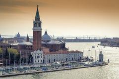 Später Nachmittag in Venedig Stockbild