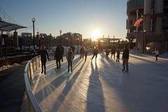 Später Nachmittags-Eislauf Lizenzfreie Stockfotos