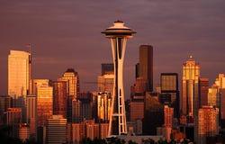 Spätes Glühen, Seattle Stockbilder