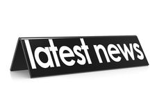 Späteste Nachrichten im Schwarzen Lizenzfreies Stockbild