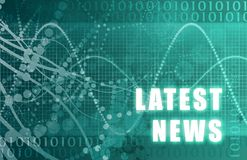 Spätester Nachrichten-Auszug Lizenzfreie Stockbilder