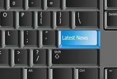 Spätester neuer Knopf auf Tastatur Lizenzfreies Stockfoto