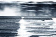Spång i vinter arkivfoto