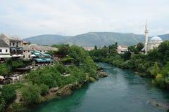 Spår av bosniska muselmaner i moskéer och ottoman Arkivbild