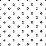 Spår av Cat Textile Pattern. Sömlös vektor Royaltyfri Foto