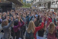 Spår av den judiska Warszawa - odla festivalen 2010 Arkivfoto
