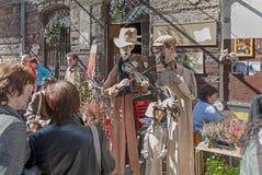 Spår av den judiska Warszawa - odla festivalen 2010 Royaltyfri Fotografi