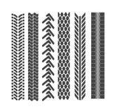Spår av gummihjul stock illustrationer
