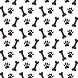 Spår av hunden. Arkivfoto