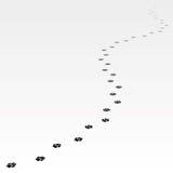 Spår av hunden som långt borta leder Royaltyfri Fotografi