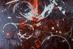 Spår av målarfärg på yttersidan arkivfoton
