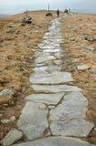 spår för bergmaximumturister Royaltyfri Fotografi