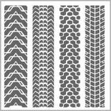 Spår för bilgummihjul - vektoruppsättning Fotografering för Bildbyråer