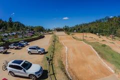 Spår för BMX-cykellopp Giba Gorge Venue royaltyfri foto