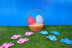 spår för jakt för kanineaster ägg Arkivbilder