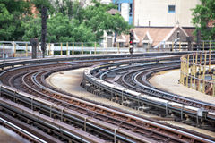 Spår för New York tunnelbanadrev Royaltyfri Bild